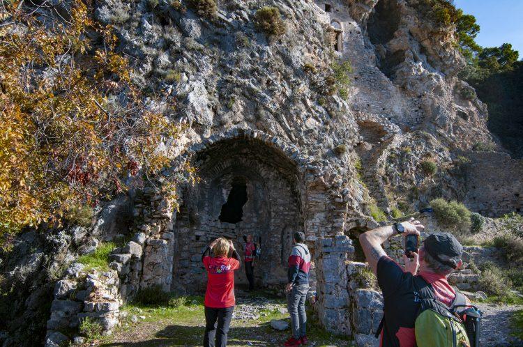 Fethiye'nin Afkule Manastırı manzarası ile büyülüyor