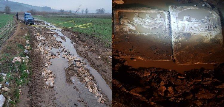 Bandırma'da şiddetli yağış tarihi eserleri toprak üstüne çıkarttı