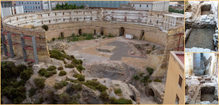 Chamber of gladiators discovered at the amphitheatre in Cartagena