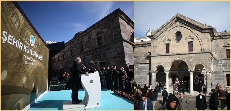 Kayseri'deki Meryem Ana Kilisesi Şehir Kütüphanesi olarak açıldı
