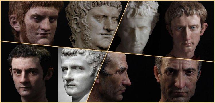 Roma İmparatorlarının yüzleri en gerçekçi şekliyle yeniden oluşturuldu