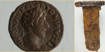 Piece of Viking sword and Roman coin found in Norway