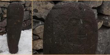 Erzurumda heykel şeklinde 2500 yıllık Kıpçak mezar taşı bulundu