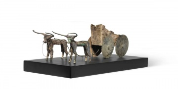 Ox-driven cart sculpture and a three-piece Sidamara sarcophagus return to Turkey