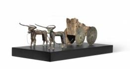 İki Boğalı Kağnı heykeli ve Sidamara tipi lahit Türkiyeye iade edildi
