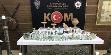 İstanbulun 6 ilçesindeki 11 operasyonda, 3718 parça tarihi eser yakalandı
