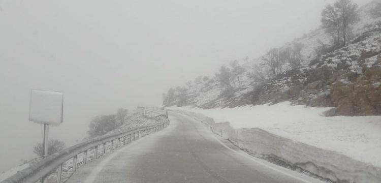 Nemrut  yolu kar nedeniyle kapandı