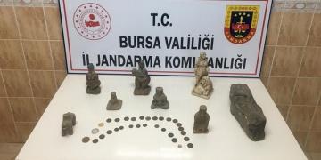 Bursada tarihi eser kaçakçıları yakalandı