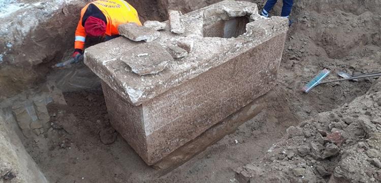 Silivri'de inşaat sırasında lahit bulundu