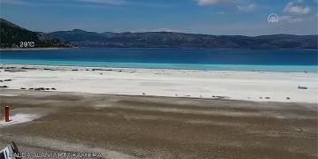 Salda Gölünde 24 saat kamera ile canlı yayın başladı