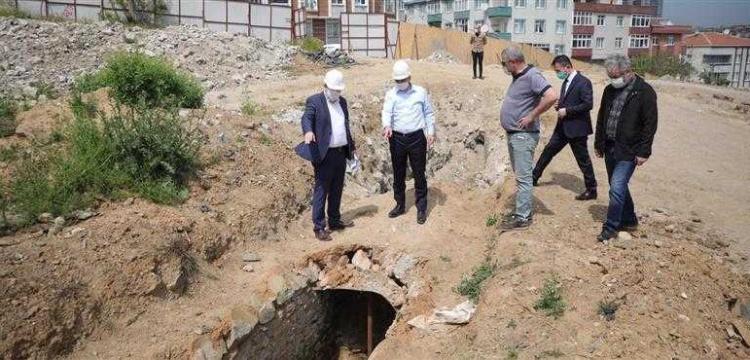 Gaziosmanpaşa'da 1500 yıllık su kemeri bulundu