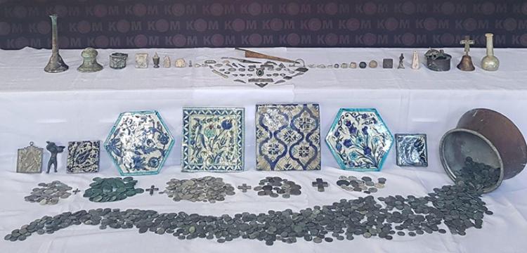 Tokat'ta 1381 parça tarihi eser yakalandı