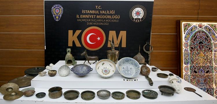 İstanbul'da 78 parça tarihi eser ele geçirildi