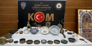 İstanbulda 78 parça tarihi eser ele geçirildi