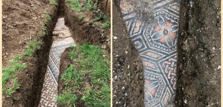 Verona'da Roma dönemi zemin mozaikleri bulundu