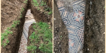 Veronada Roma dönemi zemin mozaikleri bulundu