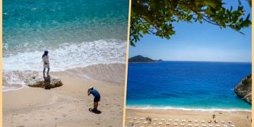 Kaputaş Plajında şezlonglar sosyal mesafeye göre konumlandı