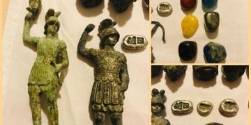 Balıkesirde 3 bronz heykel yakalandı