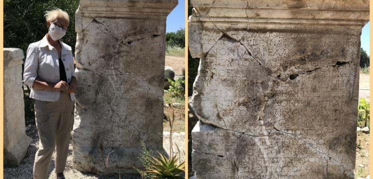 Patara'da bulunan yazıt Roma senatörüne adanmış
