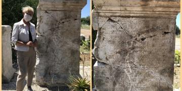 Patarada bulunan yazıt Roma senatörüne adanmış
