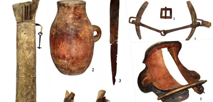 Moğolistan'da bulunan at koşumları ve silahlar 1700 yıllık çıktı