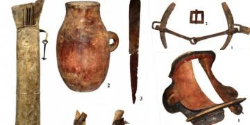 Moğolistanda bulunan at koşumları ve silahlar 1700 yıllık çıktı