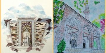 Selçuklu mimarisi çizimleri sergisi internet üzerinde açılacak