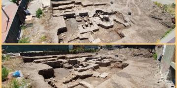 İznikte inşaat kazısı sırasında tarihi hamam bulundu