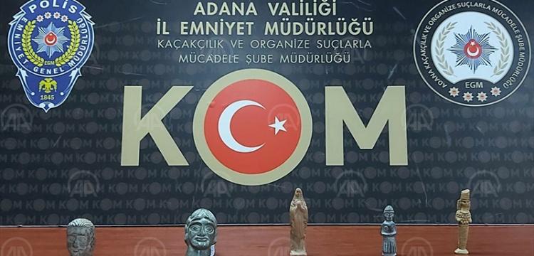 Adana'da 5 heykelcik ele geçirildi