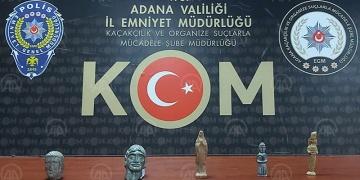 Adanada 5 heykelcik ele geçirildi