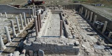 Tripolis anıtsal çeşmenin yüzde 90ının kazısı tamamlandı