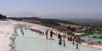 Pamukkaleyi 11 günde 6 bin 850 kişi ziyaret etti