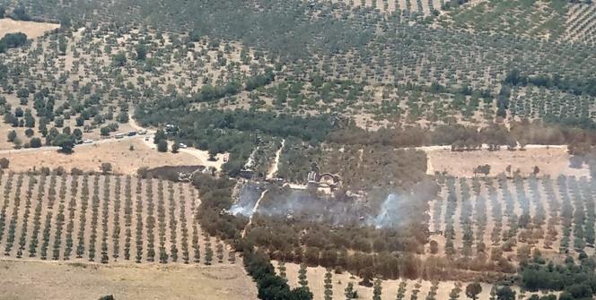 Alexandria Troas Antik Kentide çıkan orman yangını söndürüldü