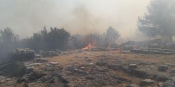 Priene Antik Kentinde yangın