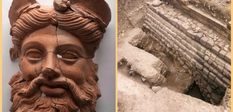 Daskyleion Antik Kenti kazısında Dionysos maskı bulundu