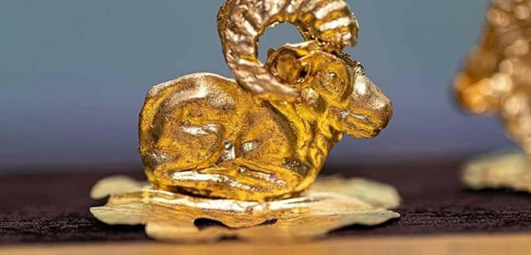 Kazakistan'da Sakalar dönemine ait 850 adet altın eser bulundu