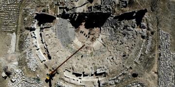 Aizanoi Antik Kentinde tiyatro ve stadyum kazıları devam ediyor