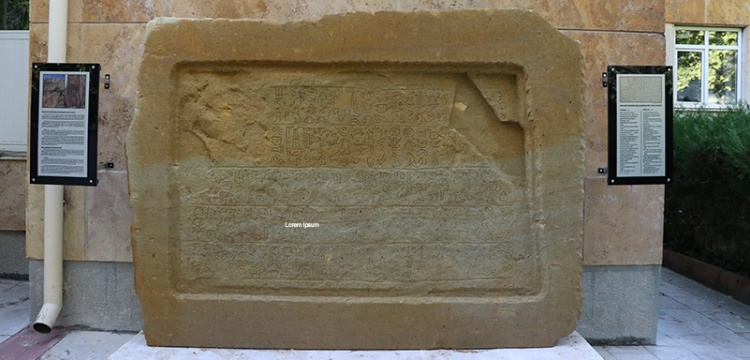 Hitit Dönemi maden yazıtının replikası Niğde Müzesinde sergileniyor