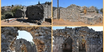 Beçin Antik Kentindeki 700 yıllık Bey Hamamı restore edilecek