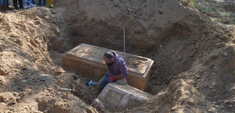 Afrodisyas Antik Kenti'nde kaçak kazı