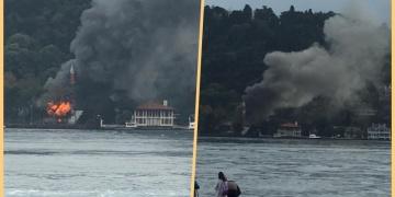 Tarihi Vaniköy Camisinde yangın