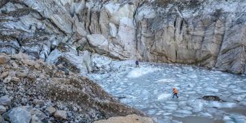 Türkiyenin en büyük vadi buzullarının yapısı araştırılıyor