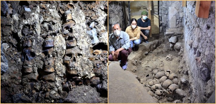 Aztek kafatası kulesinin yeni bölümleri ortaya çıkarıldı