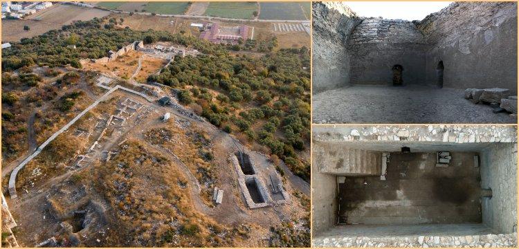 Metropolis Antik Kenti kazılarında 4 sarnıç bulundu