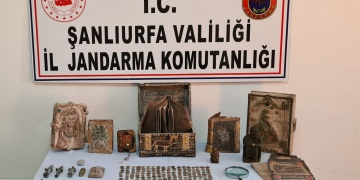 Şanlıurfada 369 parça tarihi eser yakalandı