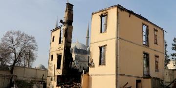 Edirnede yanan tarihi müftülük binası aslına uygun olarak yeniden yapılacak