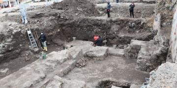 Trabzonda otopark inşaatında Roma Dönemi kalıntılar bulundu