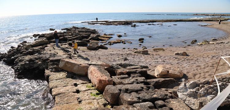 Soli Pompeipolis Antik Kenti'ndeki liman ortaya çıktı