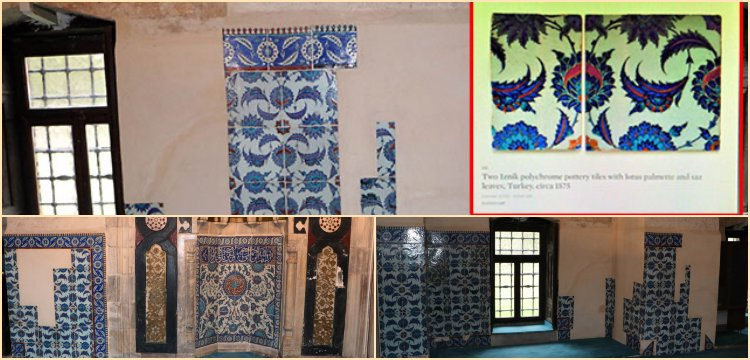 Adana'da camiden çalınan İznik çinileri Londra'da satılmak istendi
