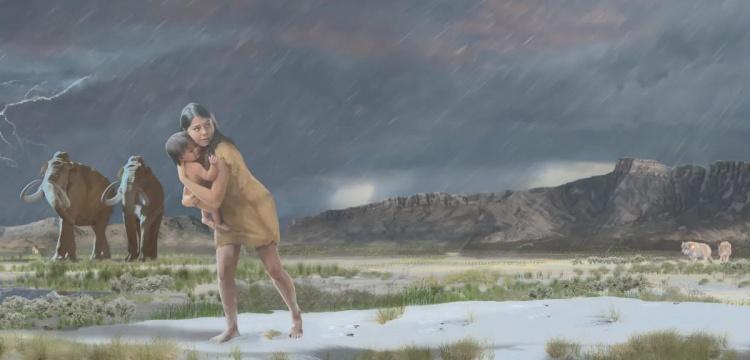 Paleolitik çağdan kalma ayak izlerinden okunan gerçek bir öykü